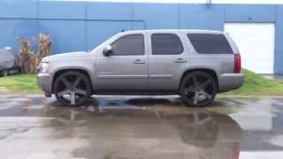 getlinkyoutube.com-Chevy Tahoe Dropped 26s Dub Ballers 2/4 Maxtrac Suspension Reklez