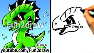 getlinkyoutube.com-Easy Cartoon Drawings - How to Draw a Cool Sea Monster - Drawing Step by Step - Fun2draw