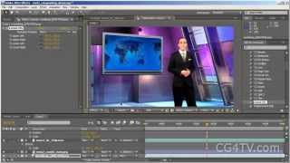 Green Screen Video Tutorial -- How to use virtual sets and backgrounds with Adobe After Effects