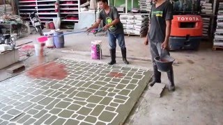 getlinkyoutube.com-Stencil Stamped Concrete