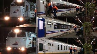 getlinkyoutube.com-Kesibukan Lalu Lintas Kereta Api Sejak Pagi Buta di Stasiun Jatinegara