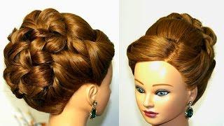 getlinkyoutube.com-Wedding prom hairstyle for long hair. Updo tutorial.