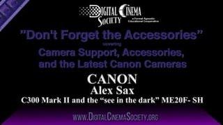 Canon's Alex Sax Presents the C300 Mark II and ME20F-SH