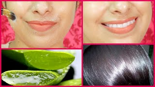 getlinkyoutube.com-Magic Mask with Aloe Vera | Get Bright Glowing Skin & Silky Soft Hair
