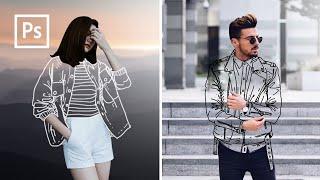 Cara Edit Foto Baju Transparan, Clothless effect - Edit foto kekinian - Photoshop Tutorial Indonesia