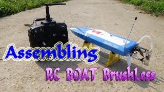 getlinkyoutube.com-[Assembling] RC Brushless Boat DIY KIT DTRC Mini Little Pepper M44105 | Gearbest