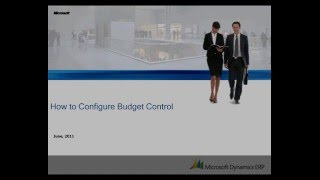 Microsoft Dynamics AX: How to Configure Budget Control