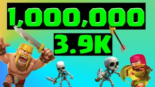 getlinkyoutube.com-Clash Of Clans 1 Million loot + 3900 Trophy Gameplay+ NEW GAME ANNOUNCED