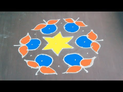 special Diwali Rangoli / kolam Design 4