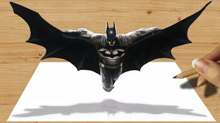 3D Pencil Drawing: Batman - Speed Draw | Jasmina Susak