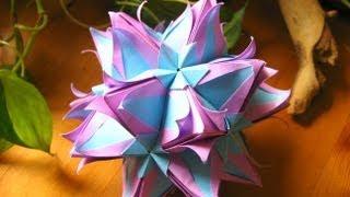 getlinkyoutube.com-Origami ❀ Galatea ❀ Kusudama