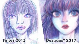 "getlinkyoutube.com-Rehaciendo un Dibujo Antiguo ""Draw this again""   Diana Díaz"