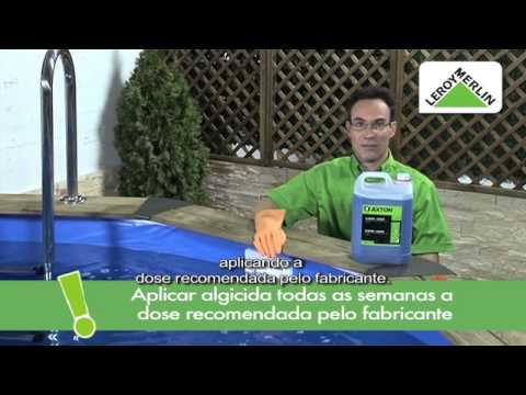 Preparação e manutenção de piscina
