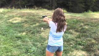 getlinkyoutube.com-First time shooting the Glock 21 45acp