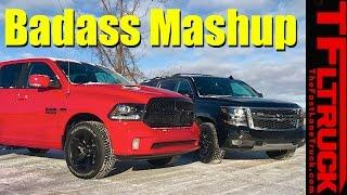 2017 Chevy Suburban Z71 vs. Ram 1500 Mopar: Which Truck is More Badass?