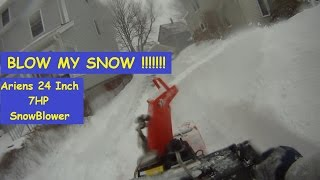 getlinkyoutube.com-Ariens 24 inch 7 hp Snow Blower Go Pro Cam and Some Cussing.