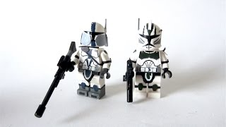 getlinkyoutube.com-Custom LEGO:  Star Wars - Elite 41st Legion Commander + 501st Sniper - Fan Review
