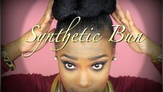 getlinkyoutube.com-Jumbo Braiding Hair | Synthetic Bun Tutorial