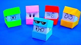getlinkyoutube.com-Оригами из бумаги | Смешные кубики | Игра кубик меняет лицо