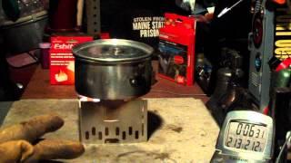 getlinkyoutube.com-ESBIT Stainless Steel Stove & Potstand - Boil Test #2