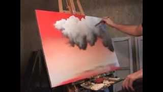 getlinkyoutube.com-Time Lapse landscape painting Red Sky, Clouds, by Tim Gagnon