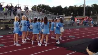 getlinkyoutube.com-Daniel Boone cheerleaders prepare to get the crowd psyched for game with Twin Valley.#BuxMontfootbal