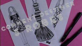 getlinkyoutube.com-Comment dessiner 3 robes