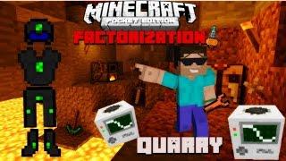 getlinkyoutube.com-Minecraft PE com Mods FACTORIZATION #13 (INDUSTRIAL CRAFT) Quarry + Armadura de Nano