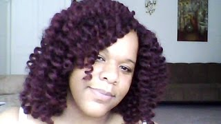 "getlinkyoutube.com-Freetress Equal Cuban Twist for Double Strand 12"" Latch Hook / Crochet Braid color 99J"