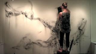 Flocking Wall Drawing