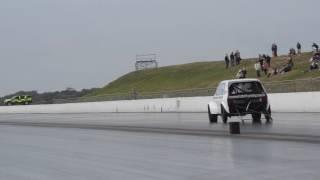 getlinkyoutube.com-Fastest FWD MK1 Golf In The World 8.457 @ 165.48mph VW Action Santa Pod