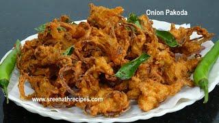 getlinkyoutube.com-Onion Pakoda -  (Pyazi) - Tea Time snacks