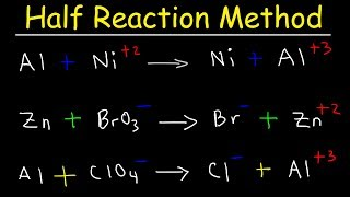 Half Reaction Method, Balancing Redox Reactions In Basic & Acidic Solution, Chemistry