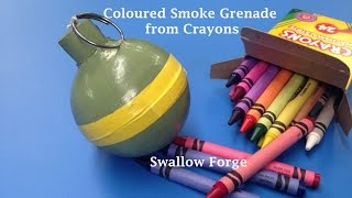 getlinkyoutube.com-How to make Coloured smoke from Wax Crayons. Smoke bomb/ grenade for paintball, airsoft.. etc