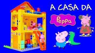 getlinkyoutube.com-Brinquedo A Casa da Peppa Pig Blocks tipo Lego Duplo BR - Juego de construcción para niños Baby Toys