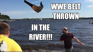 getlinkyoutube.com-WWE BELT THROWN IN THE RIVER! Grim's CAR STOLEN by MJ APPLEBALLS