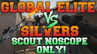 getlinkyoutube.com-CS:GO - Global Elite VS Silvers - Scout Noscope Only!