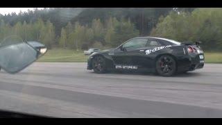 getlinkyoutube.com-AMS Alpha 12+ Nissan GTR (racefuel) vs Lamborghini Gallardo Titan Twin Turbo
