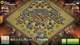 getlinkyoutube.com-Clash of Clans TH10 vs TH10 FIVE Golem, Wizard, Witch & Pekka (GoWiWiPe) Clan War 3 Star Attack