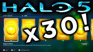 getlinkyoutube.com-HALO 5 GOLD REQ PACK OPENING x30 (Halo 5 Guardians)