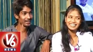 getlinkyoutube.com-Jabardasth  Fame Danadan Dhanraj With His Wife || Life Mates || V6 News