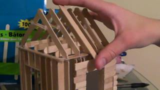 getlinkyoutube.com-[4/6] How To Build a Popsicle Stick House - Roofing Part 1/2