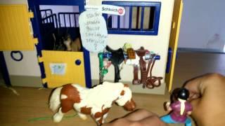 getlinkyoutube.com-Schleich paarden: te druk 20140706