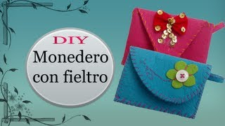 getlinkyoutube.com-DIY MONEDEROS CON FIELTRO por KEYZULE HL