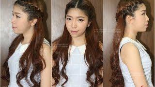 getlinkyoutube.com-Hair Tutorial : ทำผม ถักเปียแบบสาวหวาน ด้านหลังสวยเก๋