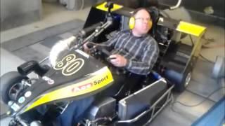 getlinkyoutube.com-Testing 250cc superkart in chassis dynamometer (Dynocom)
