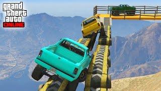 getlinkyoutube.com-99% IMPOSIBLE CON COCHES GIGANTES!! - CARRERA GTA V ONLINE - GTA 5 ONLINE