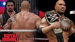 getlinkyoutube.com-WWE Royal Rumble 2016 The Rock Returns Wins WWE World Heavyweight Championship!