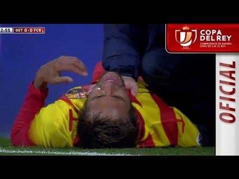 Lesión de Neymar, se duele del tobillo Copa del Rey