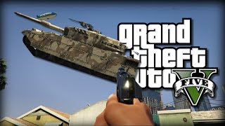 getlinkyoutube.com-GTA V PC: CRAZY CAR SHOOTING GUN | Mod Showcase